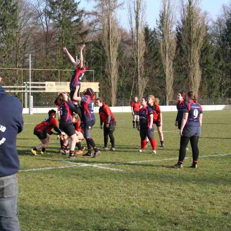 RC9 Ladies vs RC Mons: 17-0 (12/03/2016)