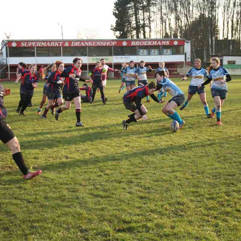 RC9 Ladies vs RC Hamme: 22 - 17 (27-02-2016