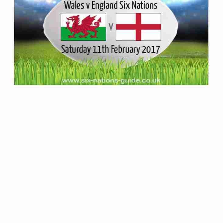 Wales Vs England Saturday 11th 4:50pm