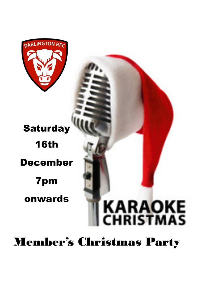 Member\'s Christmas Karaoke - News - Darlington RFC