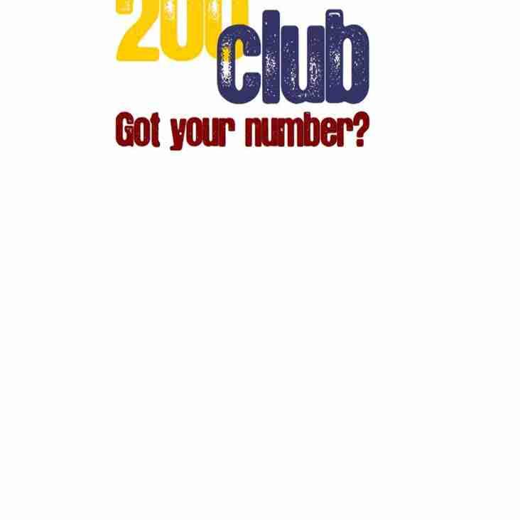 January 200 Club Draw