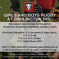 Girls and Boys Rugby at DRFC