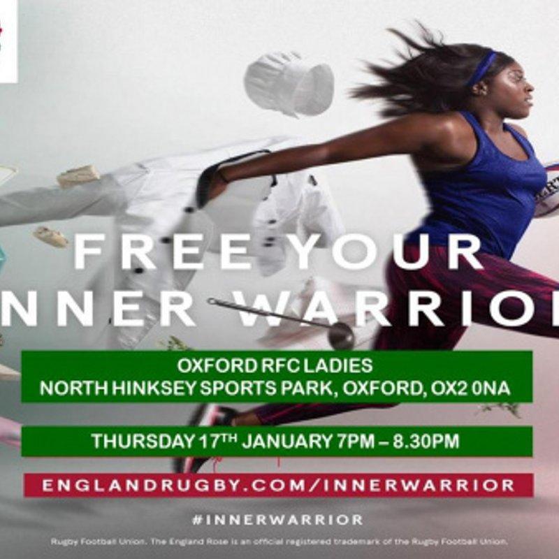 Paterson Group Oxford RFC Ladies to host #InnerWarrior Camp