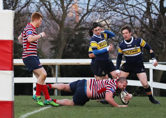 2017-12-09 BRUFC v Old Crossleyans. Touchline photographs by me and the missis