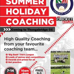 May Half Term and Summer Holiday Cricket Camps at TCC