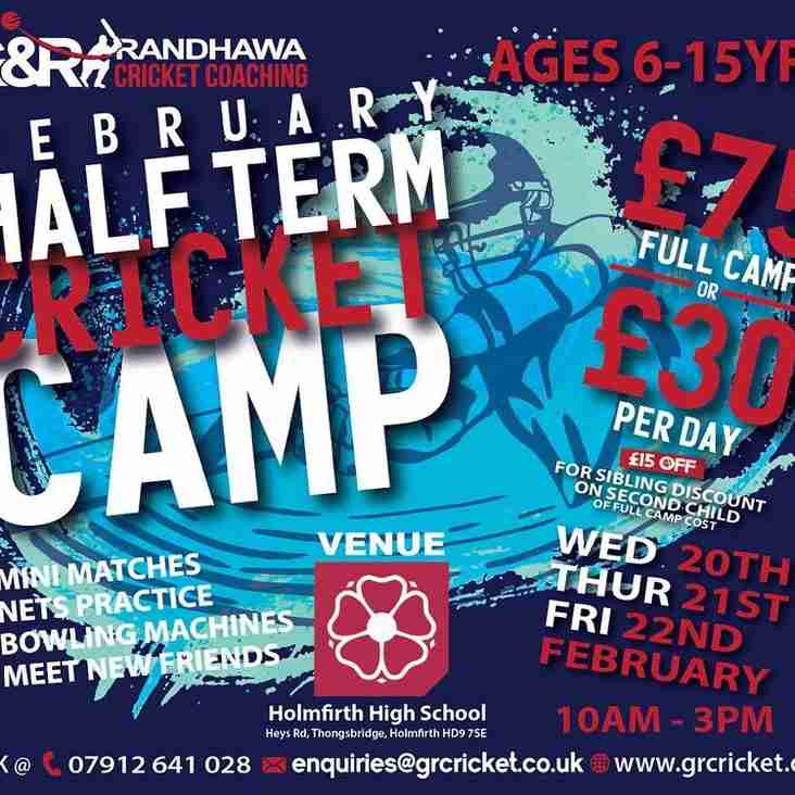 G&R Cricket Coaching Half Term Camp