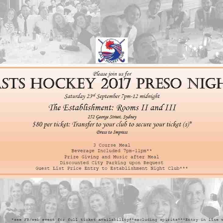 Club Preso Night: 23rd September 2017