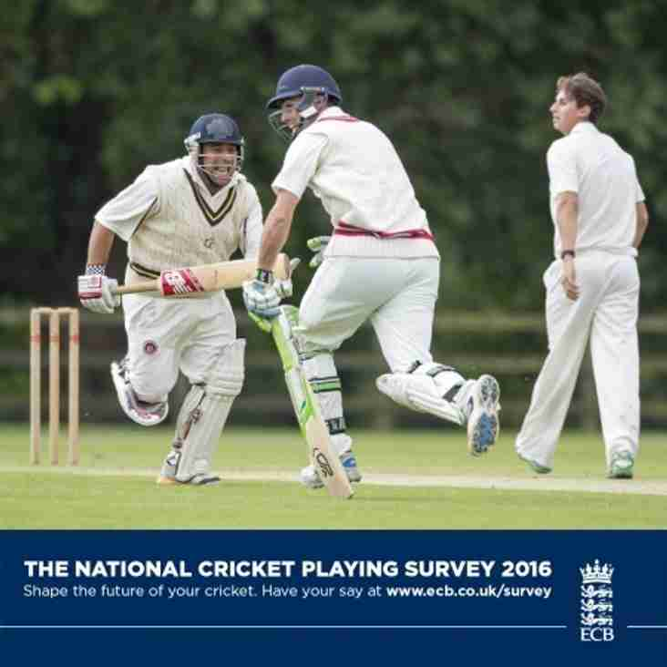 Have Your Say With The National Cricket Playing Survey