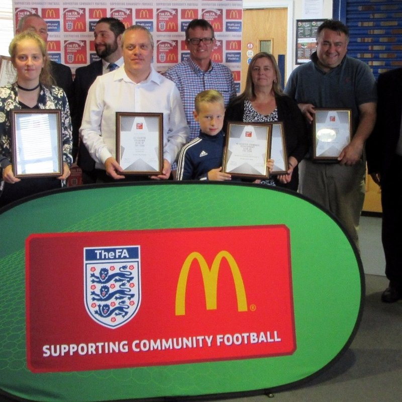 ICA SPORTS FC RECEIVE TOP FA AWARD!
