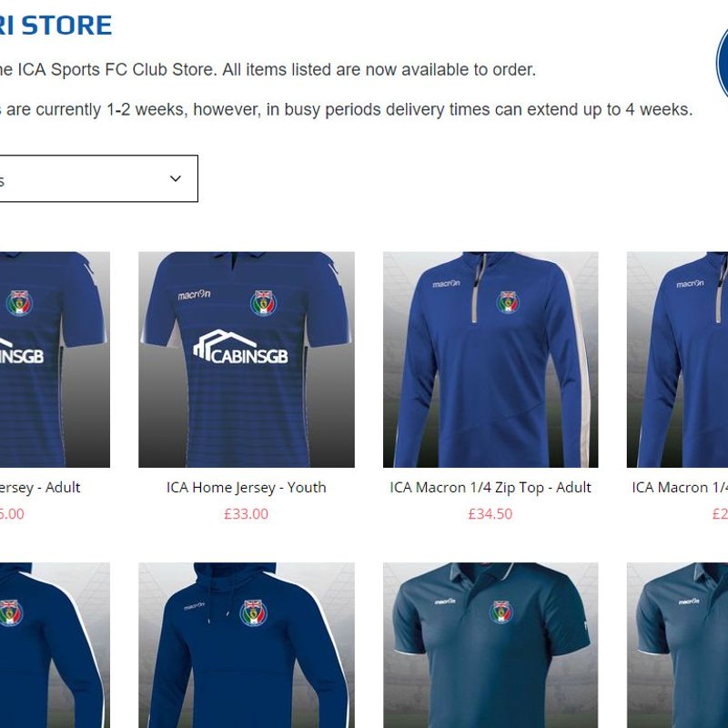 ICA MERCHANDISE AVAILABLE FROM AZZURRI STORE