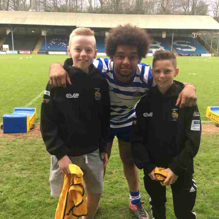 U13's Coach Zak Dewhirst Makes His Home Debut For Home Town Club Halifax RLFC U23's