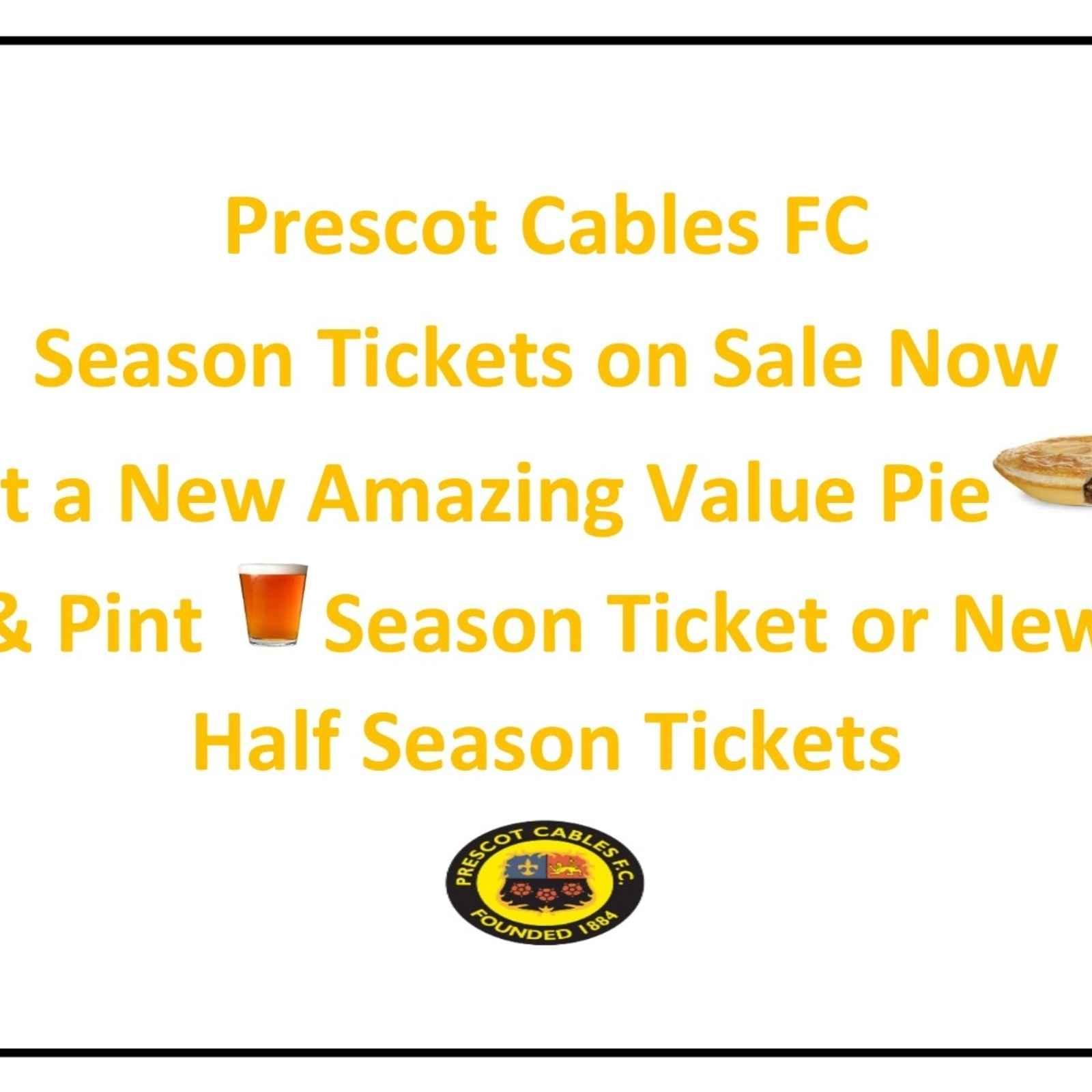Season Tickets Deadline 31st July Save 18%!!!