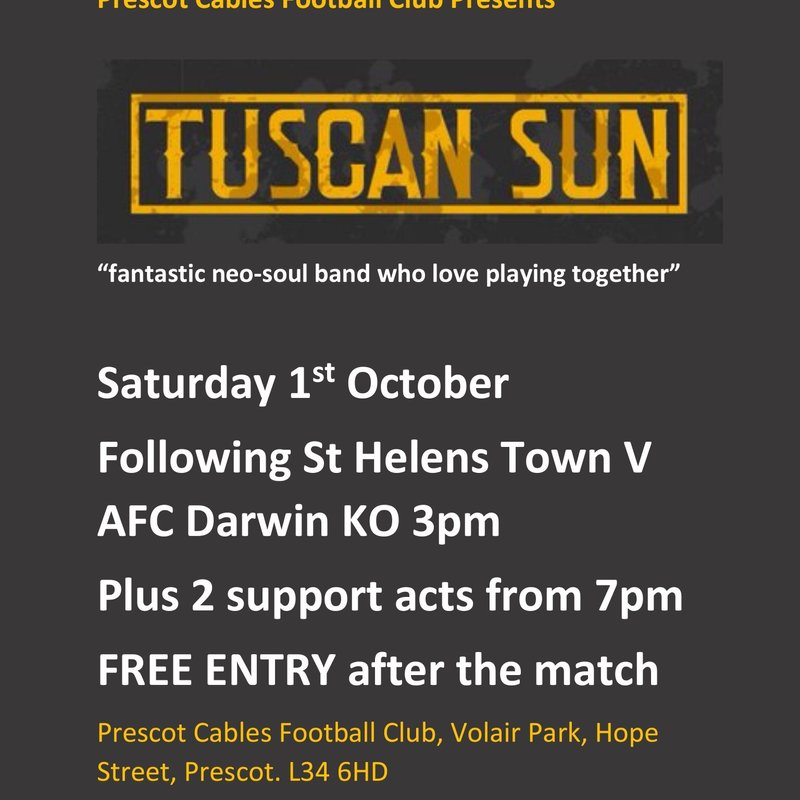 Tuscan Sun playing at Cables
