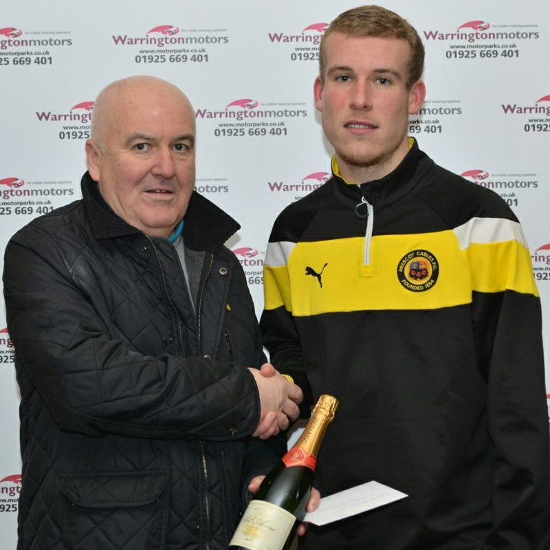 Warrington Motors Player of the Month