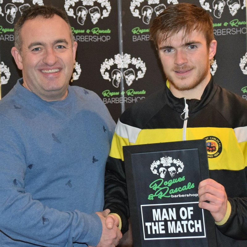Dominic Reid-Rogues & Rascals Man of the Match