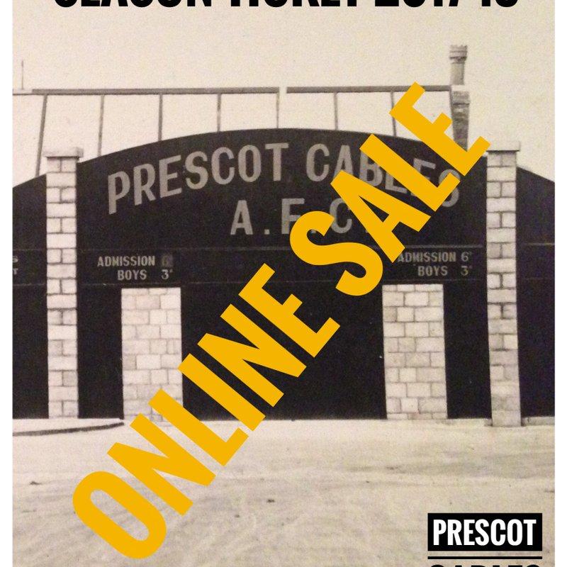 Season Tickets Now on Sale-Online!!!