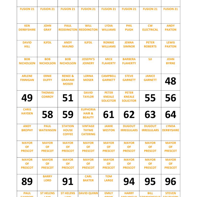 PCFC Pitch Square Scheme 2017/18 Season