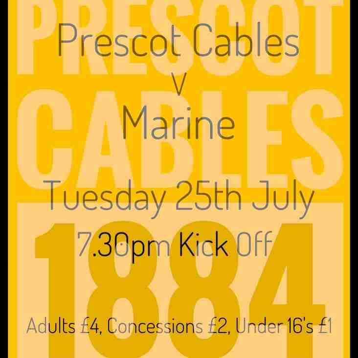 Match Day for Prescot Cables