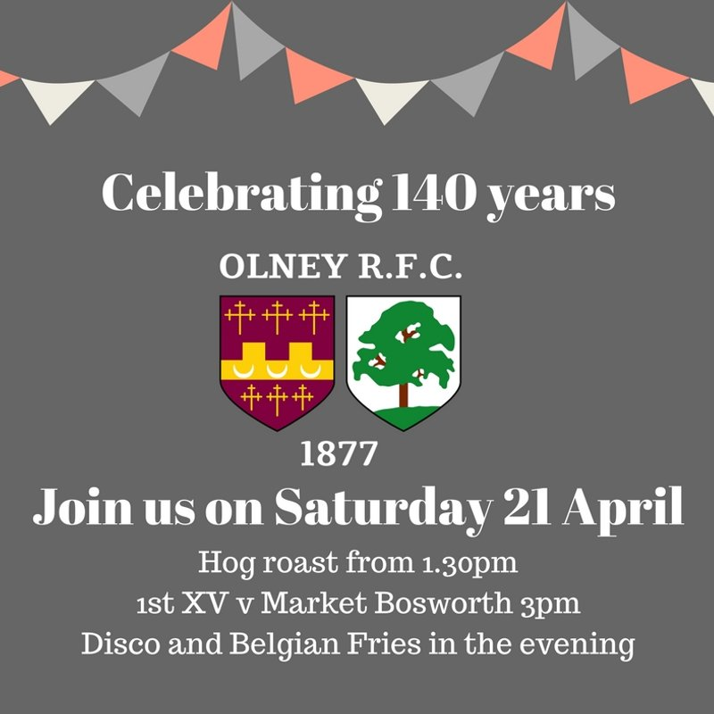 Thank you from Olney RFC