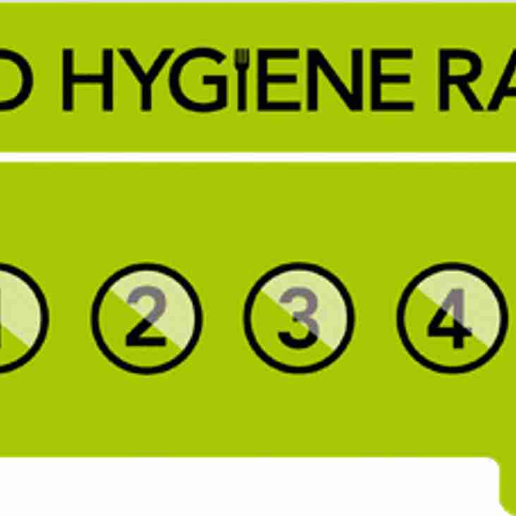 Olney RFC maintains 5 star food hygiene rating
