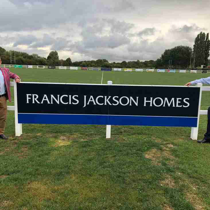 Francis Jackson Homes become Olney RFC's first ever pitch sponsor