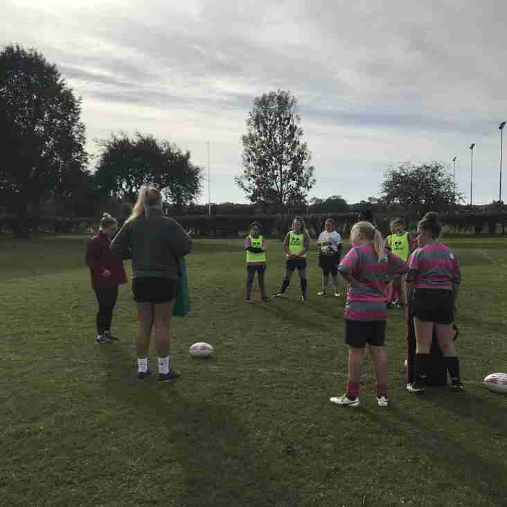 Premier womens players run training for Olney Girls