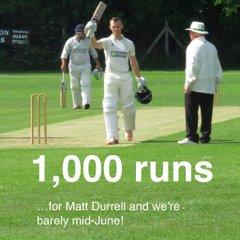 Matt's 1,000 runs - by mid-June!