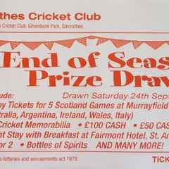 2016 Prize Draw - Tickets Available Now