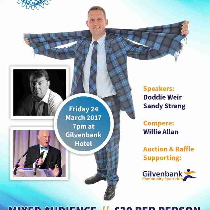 Rugby Star Doddie Weir - Guest Speaker at Glenrothes Sportsman's Dinner