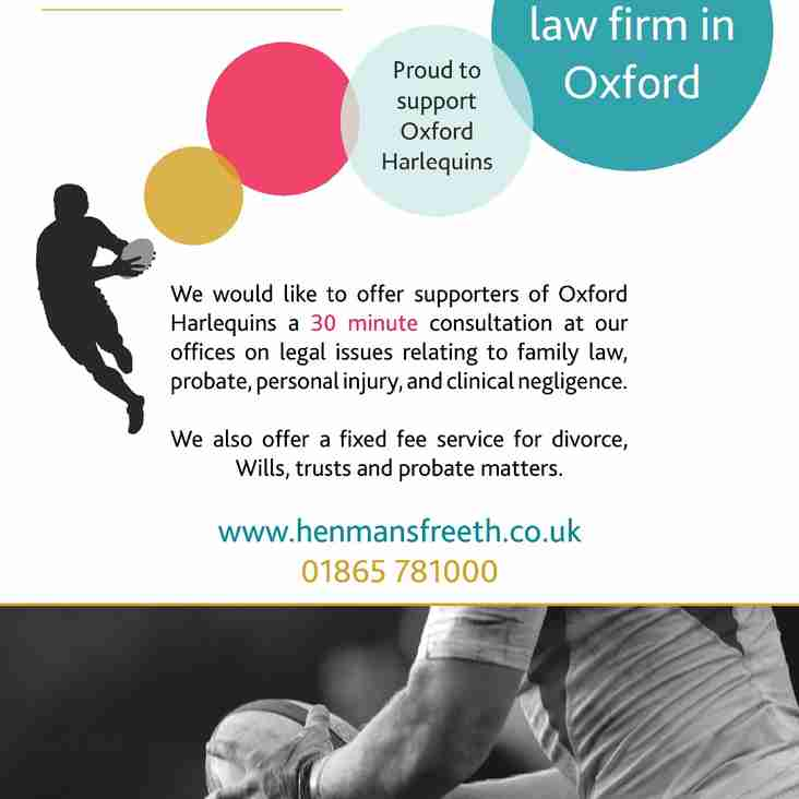 Henmans Freeth offer to Club Members