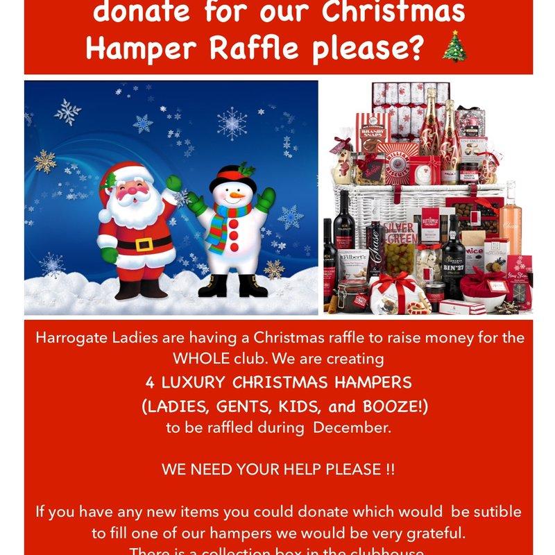 Harrogate RUFC Christmas Hampers Raffle