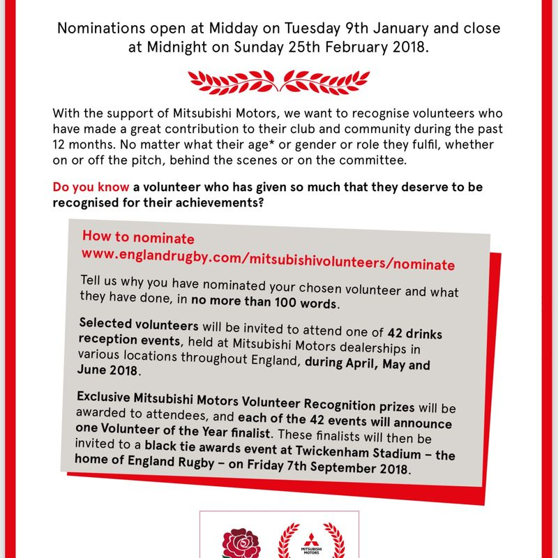 Mitsubishi Volunteer of the Year Awards 2018
