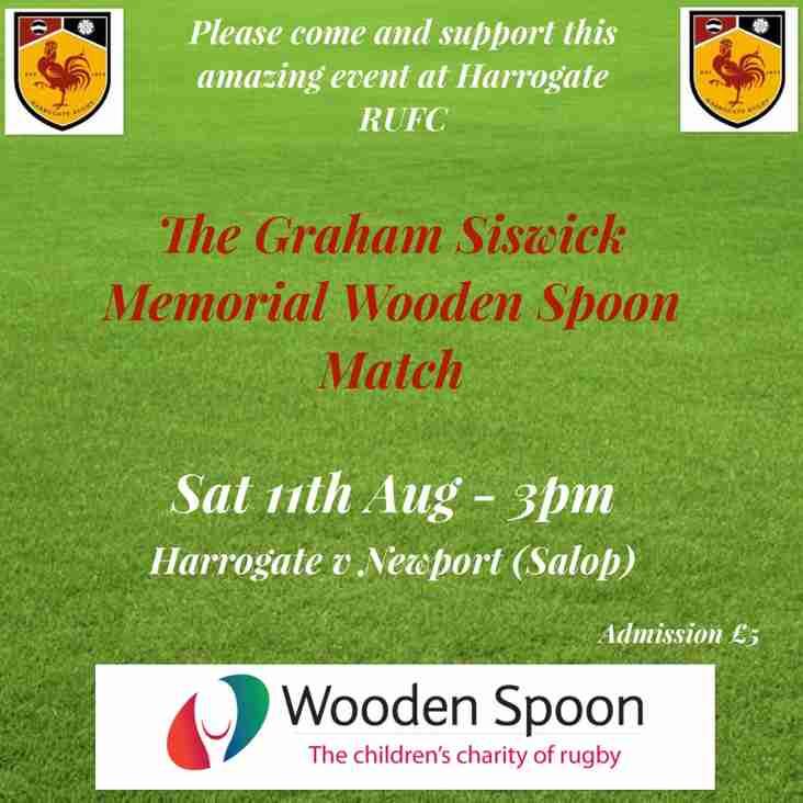The Graham Siswick Memorial WoodenSpoon Match.