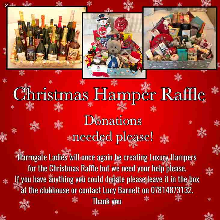 Box in Clubhouse for Christmas Hampers donations