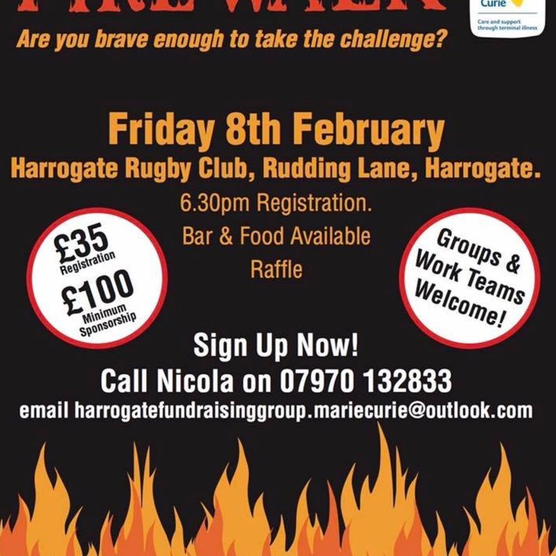 Spectacular FIREWALK EVENT in aid of the wonderful Marie Curie charity.