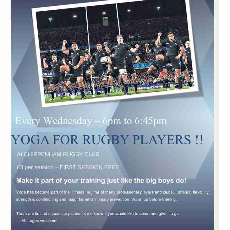 Chippenham RFC Yoga Sessions - Every Wednesday