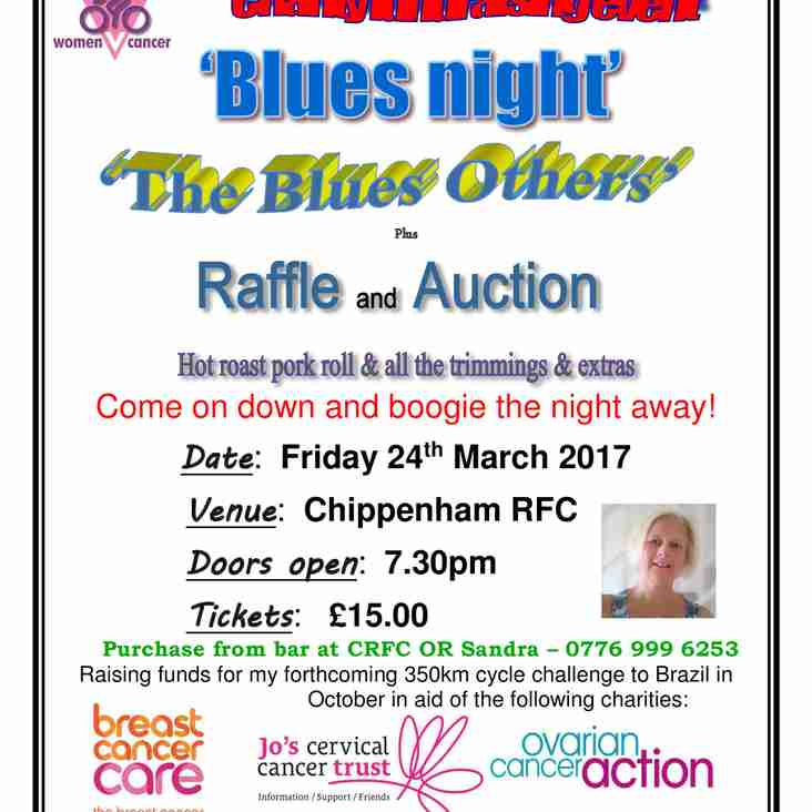 Great Charity Evening - Friday 24 March - Live Blues and Charity Auction