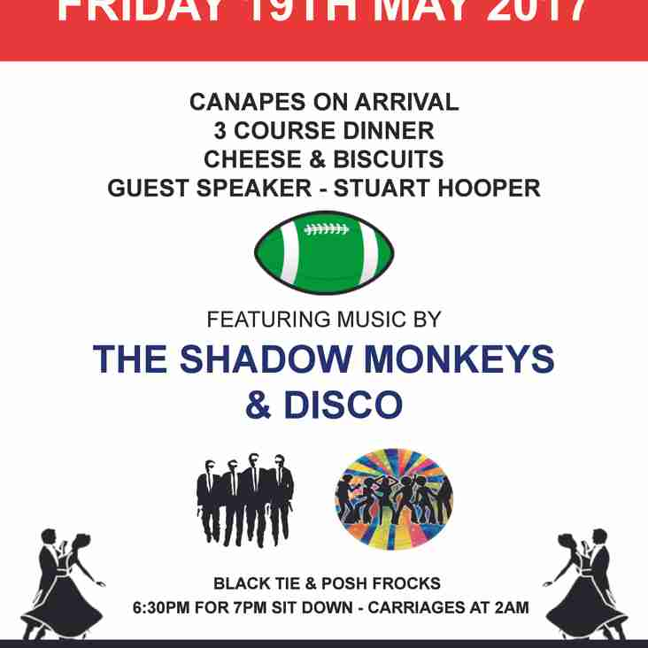 CRFC End of Season Dinner and Dance - Only a FEW Tables Left