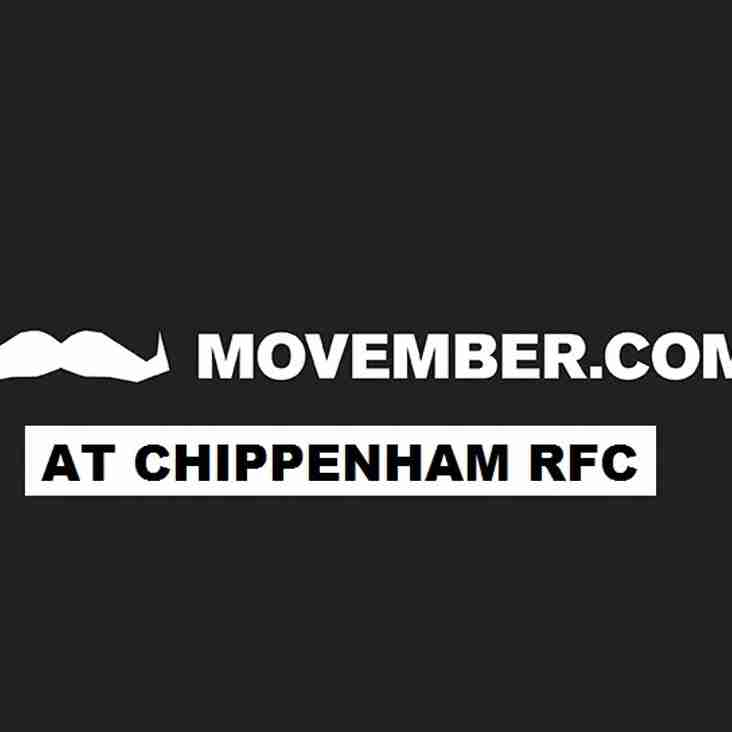 Its Movember at Chippenham RFC