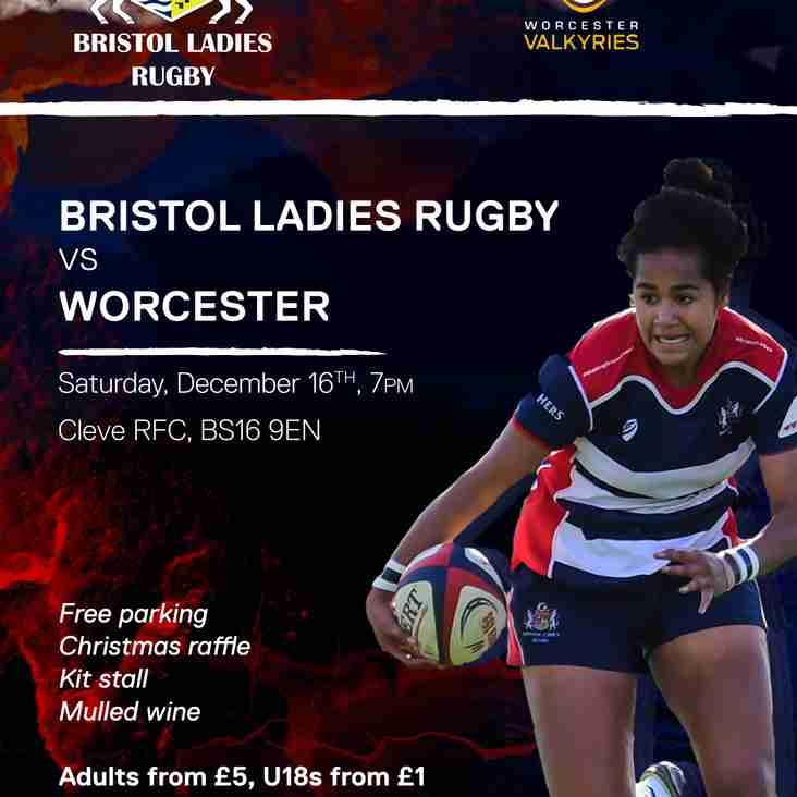 Bristol Ladies v Worcester Valkyries - 16 December