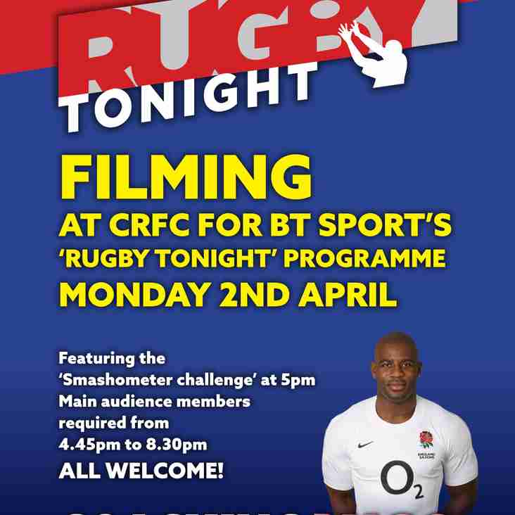 BT Rugby Tonight Filming at Chippenham RFC!!!
