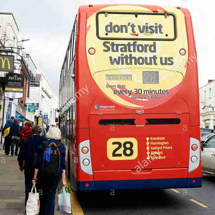 Coach to Stratford-on-Avon - The Fun Bus on 21 April - Get on board!!