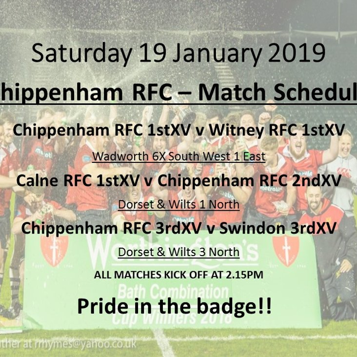 3 Senior Matches this Saturday - Come and support!!<