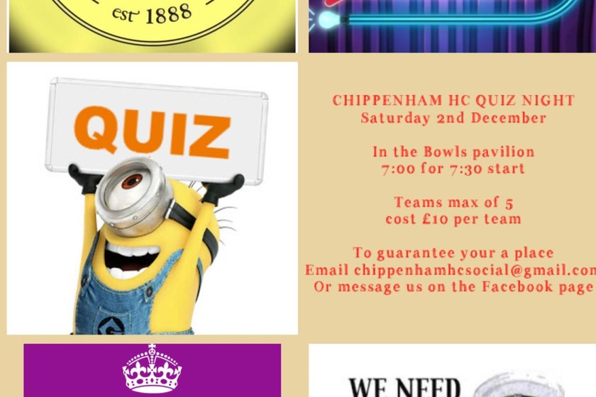 Chippenham Hockey Club - Quiz Night - Saturday 2nd December - 7pm