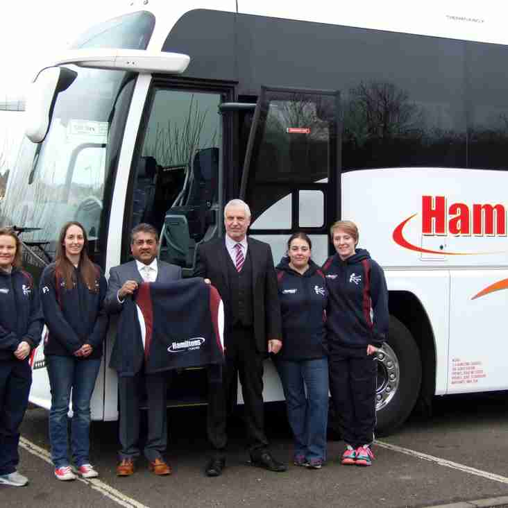 Hamiltons Coaches sponsor Kettering Ladies