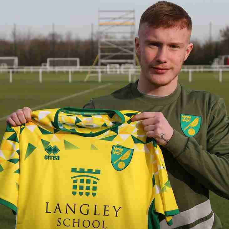 Who will be next ? After Basford United Young forward Kole Lambert signs a professional deal at Norwich City.