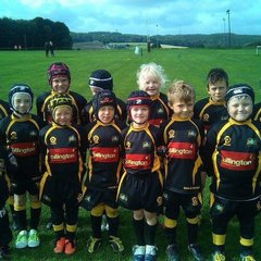 Under 7 showing off their new kit
