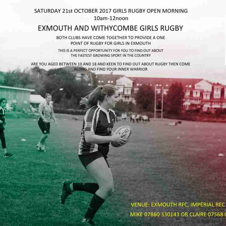 Girls Rugby - Exmouth & Withycombe combine efforts