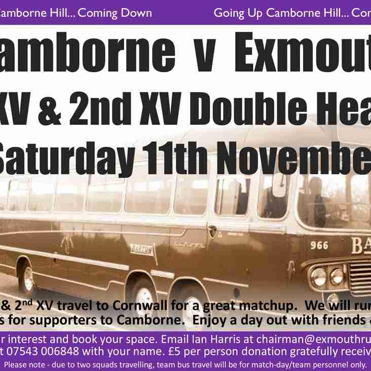 Camborne Supporters Coach - 11th November