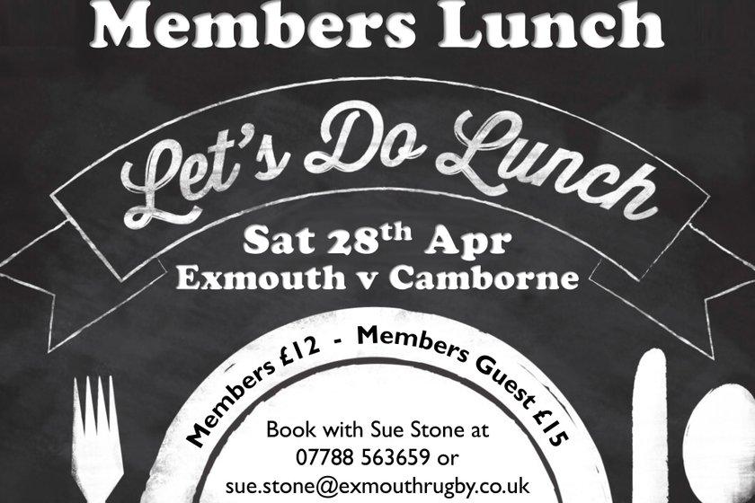 Members Lunch - 28 April